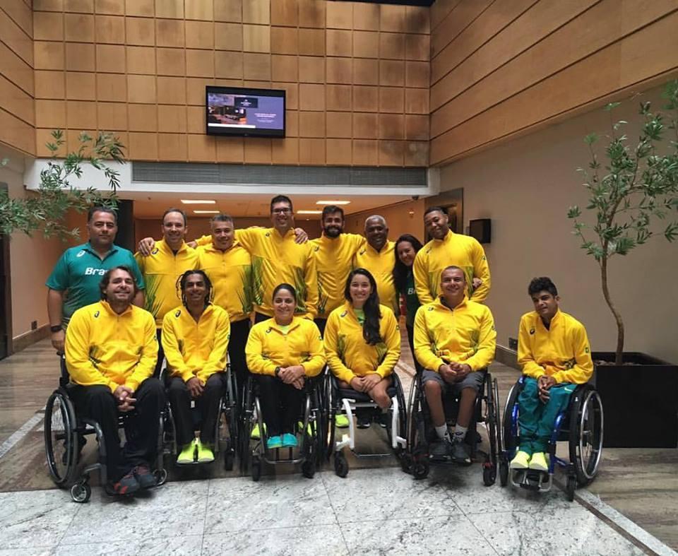 Seleção Brasileira de tênis em cadeira de rodas que vai disputar os Jogos Rio2016/ Foto: Reprodução