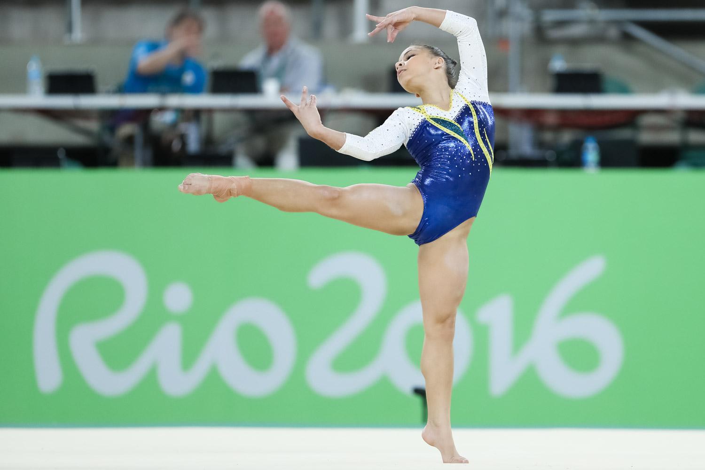 Flavia Saraiva é a ginasta mais nova da delegacao delegação/ Foto: RicardoBufolin/CBG