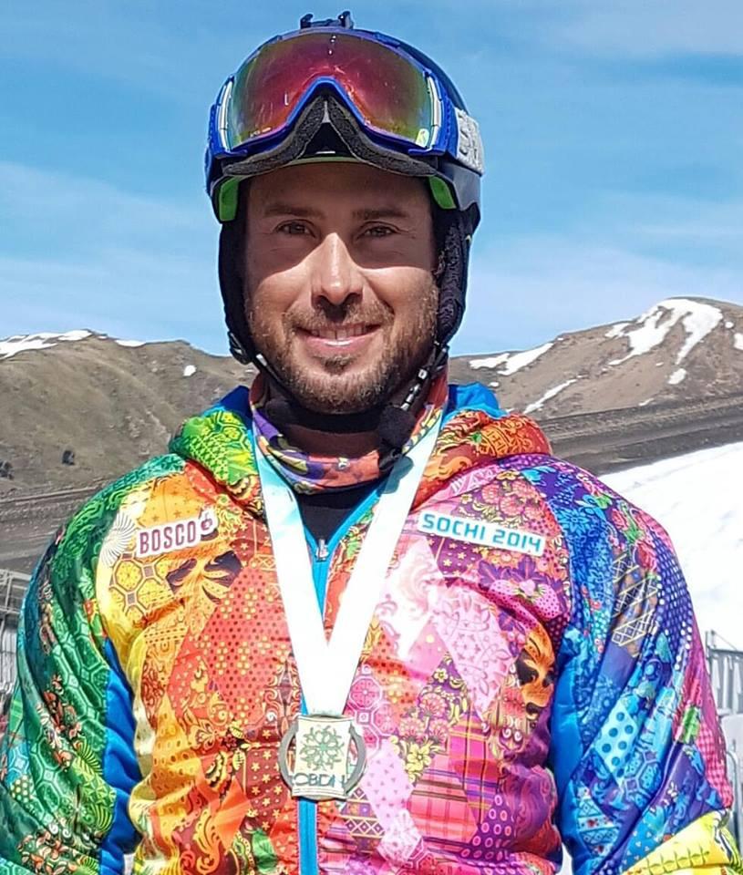 Andre Cintra é pentacampeão brasileiro de snowboard paralímpico