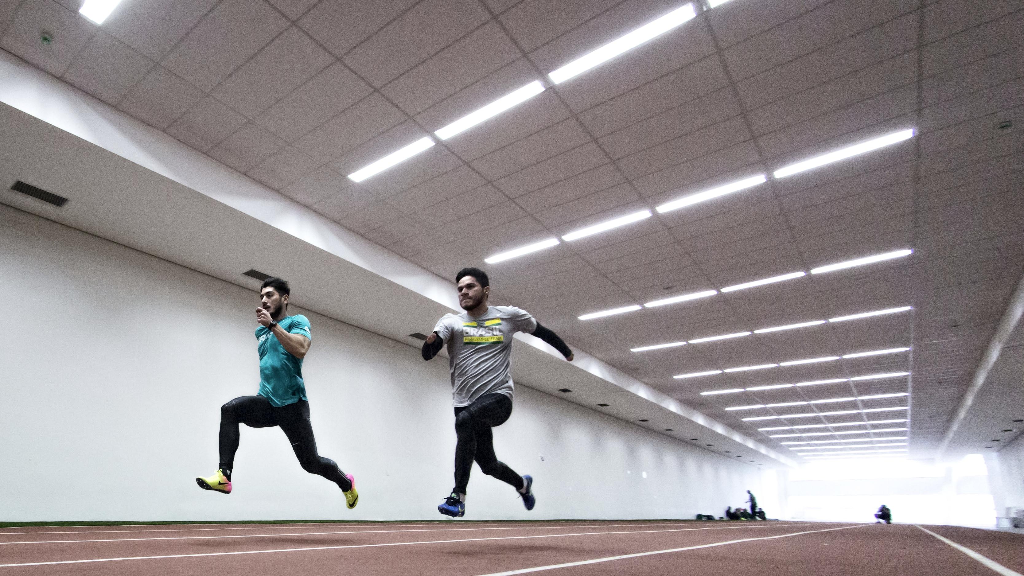 Atletas do atletismo durante a aclimata‹cao da delega‹cao paral'mpica brasileira/ Foto: ©Marcio Rodrigues/MPIX/CPB