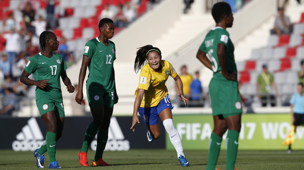 Mikaelli marcou o primeiro gol do Brasil na Copa do Mundo sub-17 2016/ Foto: Getty Images/Fifa