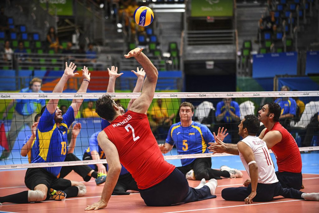 o treinador de vôlei sentado do Irã, Hadi Rezaiegarkani, campeão dos Jogos Paralímpicos do Rio 2016 é um dos palestrantes/ Foto:Raphael Dias/Getty Images