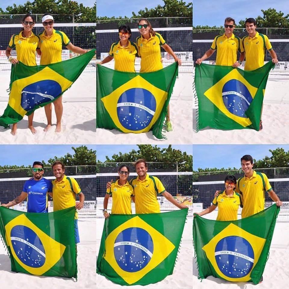 Brasil esteve em todas as finais de duplas do Pan-Americano