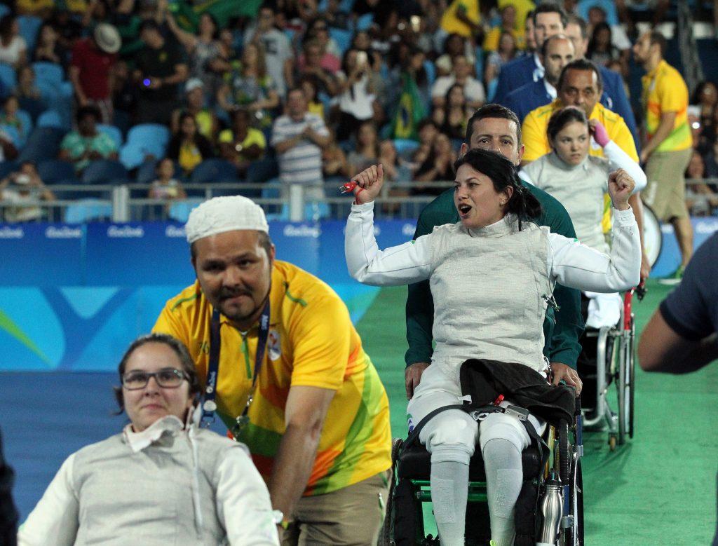 As mulheres participaram na disputa por equipe nos Jogos Paralímpicos Rio 2016